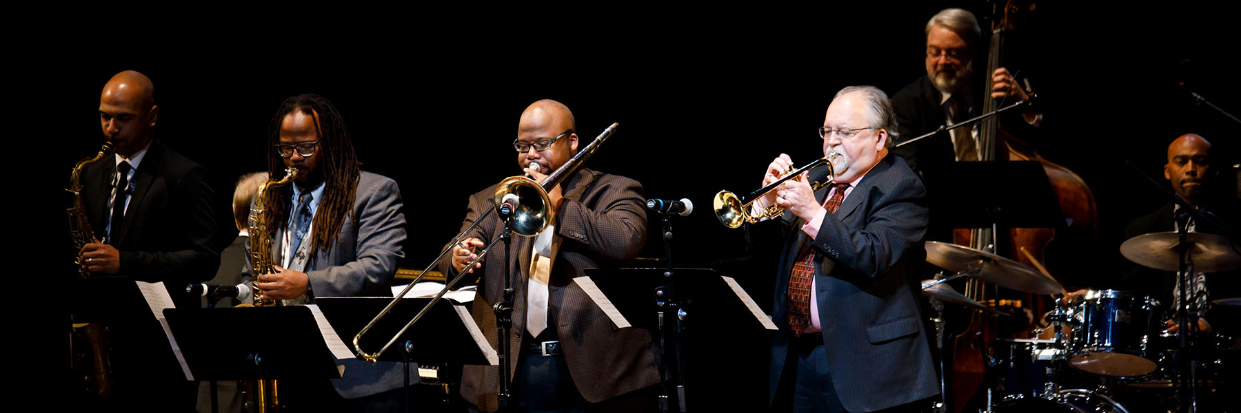 Faculty/Alumni Jazz Group performs Harlem Pipes during a celebration of the life of David N. Baker