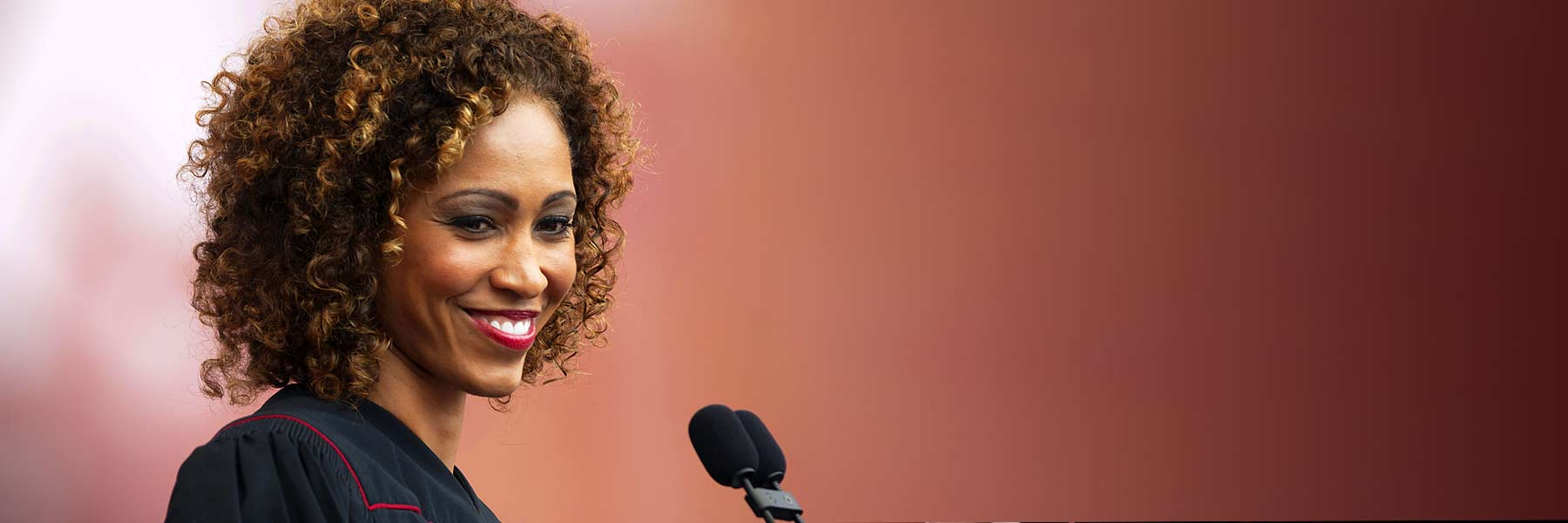 Sage Steele at IU commencement